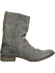 A Diciannoveventitre Rear Inside Zip Fastening Boots Grey