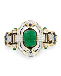 Emerald Sapphire And Diamond 18K Gold Bracelet David Webb
