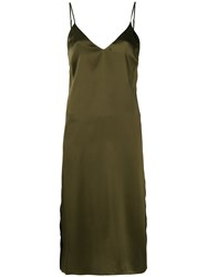 Anine Bing Gemma Slip Dress Green