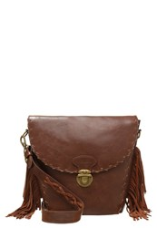 Pepe Jeans Janis Across Body Bag Camel Dark Brown
