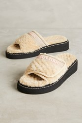 Anthropologie See By Chloe Faux Shearling Slide Sandals Neutral