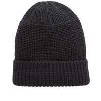 Wings Horns Knit Watch Cap Black
