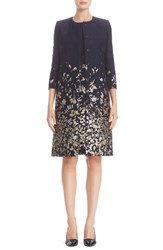 Oscar De La Renta Women's Embroidered Floral Cloque Coat