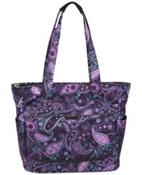 Closeout Ricardo Mar Vista 18' Shopper Tote Purple Paisley