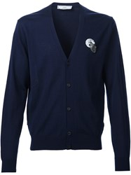 Ami Alexandre Mattiussi Embroidered Cardigan Blue