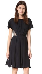 Jason Wu Silk Double Georgette Dress Black