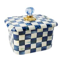 Mackenzie Childs Royal Check Recipe Box