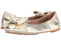 Tory Burch Divine Bow Driver Ballet Spark Gold Women's Ballet Shoes Brown