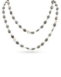 Dominique Cohen 18K Rose Gold Silverite And Bamboo Link Necklace 42 L