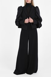 Bonnie Young Tux Jacket With Detachable Sleeve Black
