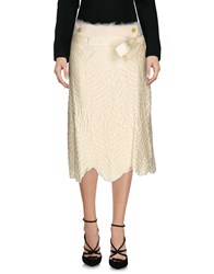 Haute 3 4 Length Skirts Ivory
