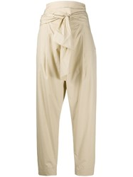 Dorothee Schumacher Tie Fastened Cropped Trousers Neutrals
