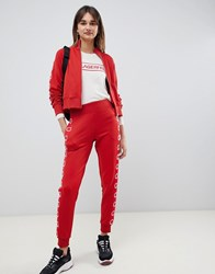 Karl Lagerfeld Logo Track Pants Red