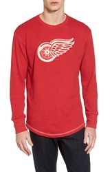 American Needle 'S Detroit Red Wings Embroidered Long Sleeve Thermal Shirt