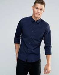 Esprit Stretch Fit Shirt Navy