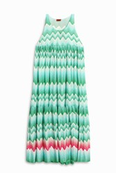 Missoni Zigzag Dress Green