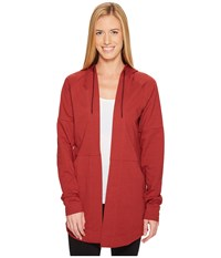 Adidas Comfort Long Hooded Cover Up Mystery Red Women's Sweatshirt