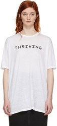 Baja East White Thriving T Shirt
