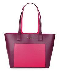 Kate Spade Double Faced Pebbled Leather Tote Mullberry