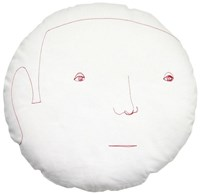 K Studio Male Round Face Pillow Multicolor