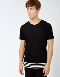Only And Sons Benny O Neck T Shirt Black