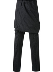 Thamanyah Layered Pinstripe Trousers Grey
