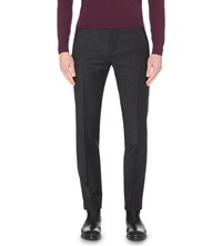 Reiss Donny Slim Fit Wool Trousers Navy