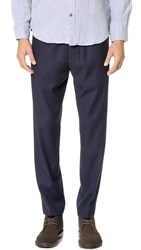 Club Monaco Crepe Elastic Dress Pants Maritime Navy