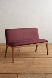 Anthropologie Linen Emrys Bench Wine