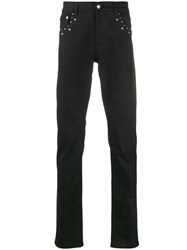 Alexander Mcqueen Studded Slim Fit Jeans Black