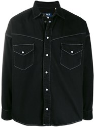 Levi's Made And Crafted Contrast Stitching Over Shirt Black