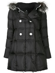 Loveless Padded Parka Coat Polyester Black