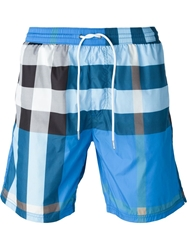 Burberry Brit Checked Swim Shorts Blue