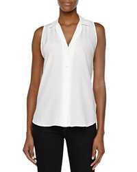 Equipment Adalyn Sleeveless Silk Blouse White