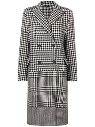 Ermanno Scervino Double Breasted Checked Coat Black