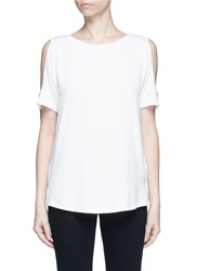 Rag And Bone 'Showoff' Cutout Shoulder T Shirt White