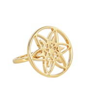 Hoochie Mama Daffodil Medallion Ring Gold