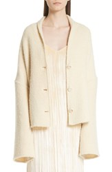 Rosetta Getty Convertible Wool Blend Boucle Cape Coat Lily