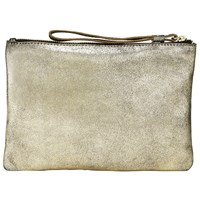 John Lewis Collection Weekend By Sadie Leather Clutch Bag Gold