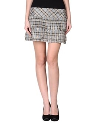 Denny Rose Mini Skirts Grey