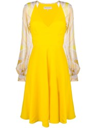 Emilio Pucci Printed Sleeves Dress Yellow