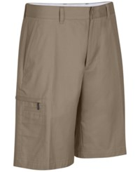 Greg Norman For Tasso Elba Big And Tall 5 Iron Performance Golf Shorts Washed Khaki