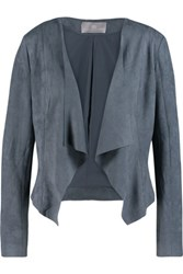 Tart Collections Sybil Draped Faux Suede Jacket Storm Blue