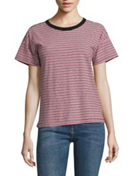 Rag And Bone The Striped Crew Tee Stripe Navy