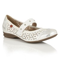 Lotus Relife Klaudia Mary Jane Shoes White