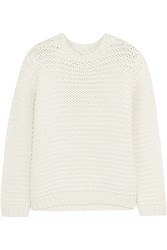 Brunello Cucinelli Sequined Cashmere And Silk Blend Sweater White