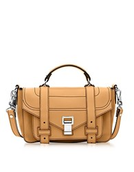 Proenza Schouler Ps1 Tiny Wheat Leather Flap Handbag Yellow