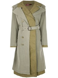 Sies Marjan Belted Double Breasted Coat Green