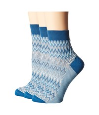Missoni Ankle Socks Multi Blue