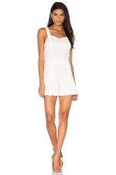 1. State Ruffle Sweetheart Neck Romper White
